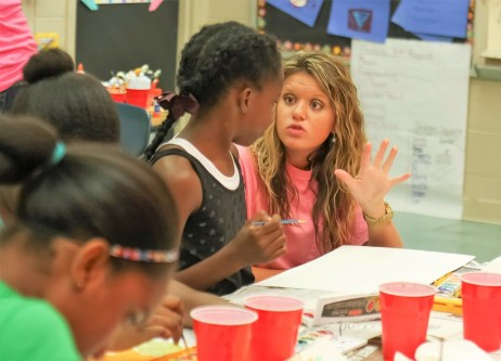 Students enrolled in gifted and talented education programs participate in a previous session of the University of Alabama College of Education's Summer Enrichment Workshop. The annual program will be housed in UA's new Gifted Education and Talent Development Office. (University of Alabama)