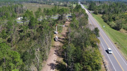 Alabama Power crews help in the restoration efforts following Hurricane Michael's devastating blow. (file)