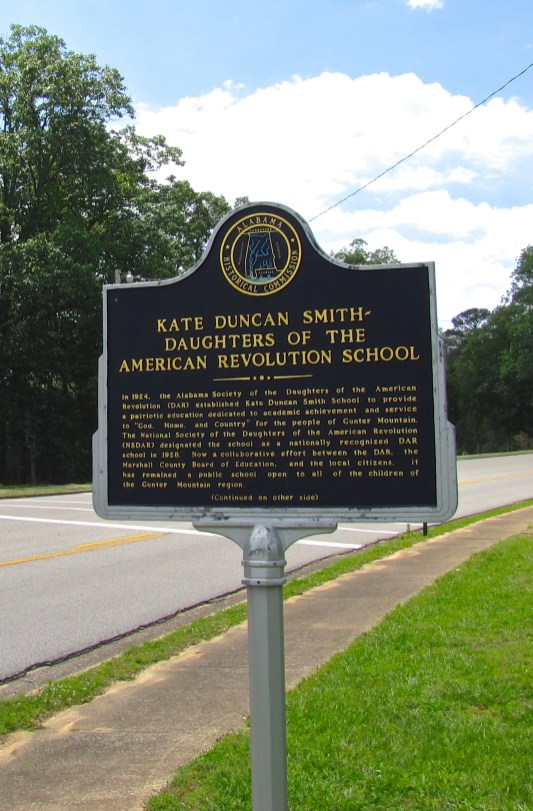 Historical marker at the Kate Duncan Smith DAR School in Grant, 2017. (Brian Stansberry, Wikipedia)