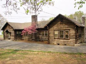 Pennsylvania Log Cabin at Kate Duncan Smith DAR School in Grant, Marshall County, was built to house the school library in 1935. Today it serves as the school museum. (From Encyclopedia of Alabama, courtesy of Angela C. Otts)