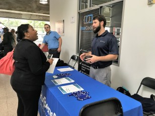 More than 100 college students met with company representatives at the recent Code the Classic Tech Career Expo in Birmingham. (Erica Wright/The Birmingham Times)