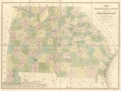 Map of Georgia and Alabama, 1839. (David H. Burr, Library of Congress Geography and Map Division)