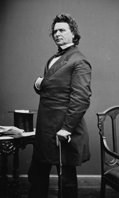 Portrait of James Mitchell Ashley, U.S. House of Representatives, who proposed an amendment abolishing slavery in 1863. This photograph was taken c. 1860-1865. (Library of Congress, Prints and Photographs Division, Wikipedia)