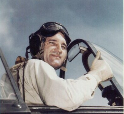 David McCampbell, c. 1943. (U.S. Navy, Wikipedia)