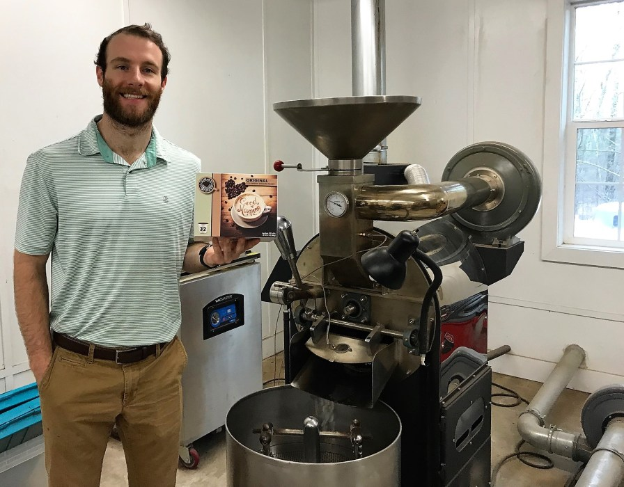 Seth Aderhold decided to start a coffee producing business after graduating from UAB because he feels it's a recession-proof product. (Michael Tomberlin / Alabama NewsCenter)