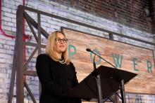 Stephanie Cooper, vice president of Public Relations at Alabama Power, speaks at the Power of Culture and Contribution luncheon at The Theodore in the Lakeview neighborhood in downtown Birmingham. (Christopher Jones / Alabama NewsCenter)