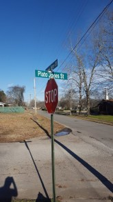 A street in Athens is named in honor of Plato Jones. (photo by Rebekah Davis)