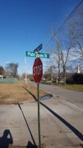 A street in Athens is named in honor of Plato Jones. (photo by Rebekah Davis)