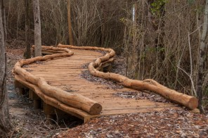 This bridge is part of a new trail at Double Cove along Logan Martin Lake. (Billy Brown/Shorelines)
