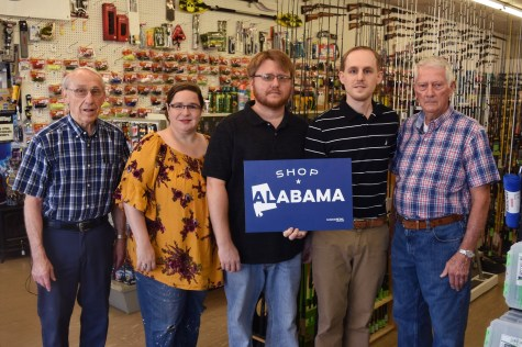Everyone working at the Mary Carter Store is family, including patriarch Raymond Young, left, who opened the store in 1964. (Melissa Johnson Warnke/Alabama Retail Association)