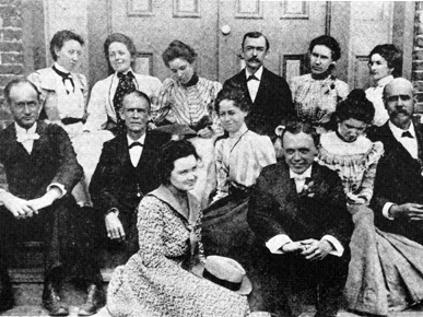 Employees of the State Normal College at Troy in 1899, including Edward Madison Shackelford, back row, who was the third president of the school. (From Encyclopedia of Alabama, courtesy of Troy University)