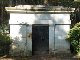 The tomb of William Rufus King, 13th vice president of the United States and a founder of Selma, in Live Oak Cemetery in Selma, Dallas County. (From Encyclopedia of Alabama, photograph by Ginger Ann Brook)