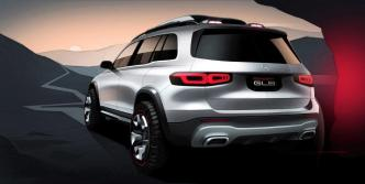"The Mercedes-Benz Concept GLB is the most ""muscular"" design for an SUV the automaker has showcased. (Mercedes-Benz)"