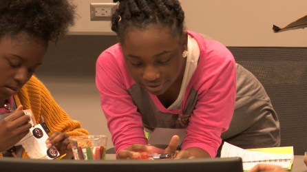 The iCan Girls in Engineering Conference presents the many facets of engineering to sixth- through eighth-grade girls. (Dennis Washington/Alabama NewsCenter)