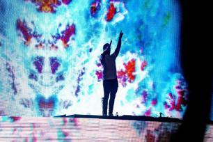 Kygo performs at the 2019 Hangout Music Festival. (Nik Layman / Alabama NewsCenter)