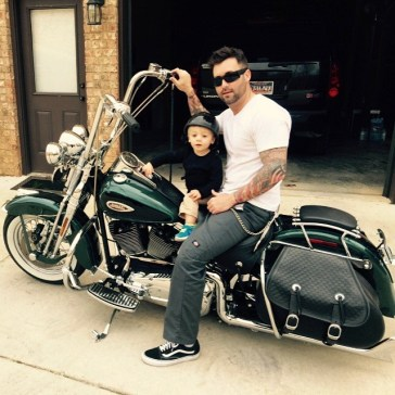Scott Shultz with his son, Pierce. (contributed)