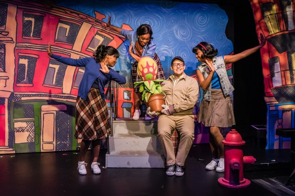 """The Little Shop of Horrors"" runs through June 2 at the Red Mountain Theatre Company. (Stewart Edmonds)"