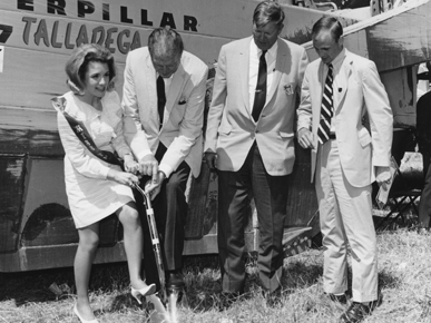NASCAR founder Bill France, second from right, breaks ground on the new Alabama International Motor Speedway (now Talladega Superspeedway) in Talladega County in 1969. (From Encyclopedia of Alabama, courtesy of Talladega Superspeedway)