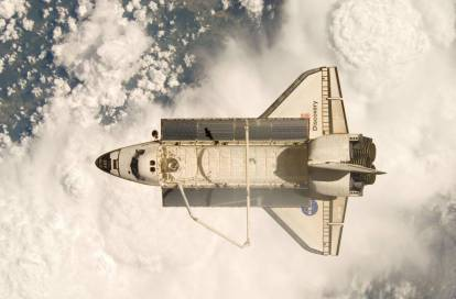 The Discovery space shuttle conducted multiple missions. (NASA)