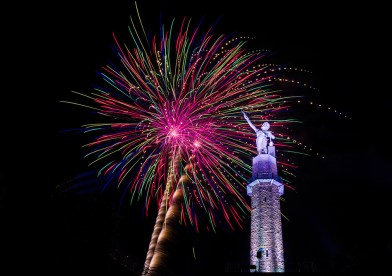 Honor those who have fought for the country's independence at Vulcan Park and Museum Fourth of July at 9 p.m. (Rachel Callahan)