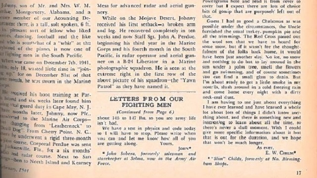 From the archives: Alabama Power employees serving in World War II write back to coworkers