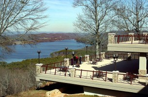 Lake Guntersville State Park adjoins Alabama's largest lake, created by the damming of the Tennessee River in the northeastern part of the state. The park covers more than 6,000 acres and includes facilities for golfing, hiking, swimming and camping. (From Encyclopedia of Alabama, courtesy of The Huntsville Times)