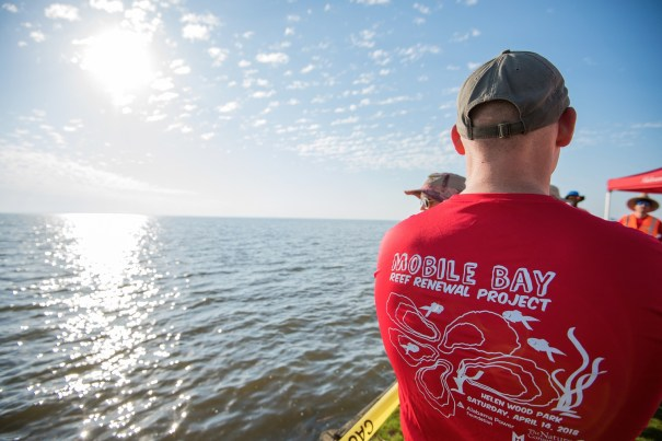 The Alabama Power Service Organization put some tough but rewarding hours into creating seven reefs in a marsh at the edge of Mobile Bay. (Alabama Power Foundation)