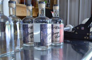 George Keel corn whiskey is made from red, white and blue corn. (Michael Tomberlin/Alabama NewsCenter)