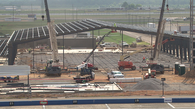 Talladega Superspeedway renovations ahead of schedule