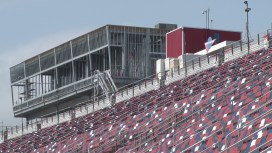A new operations tower under construction at Talladega Superspeedway. (Dennis Washington / Alabama NewsCenter)