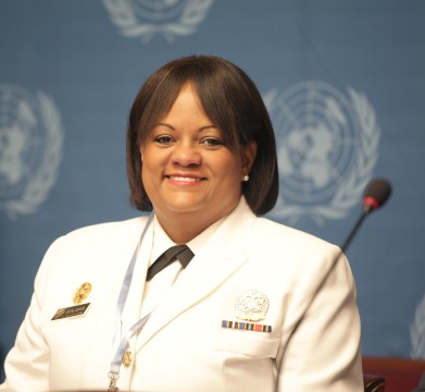 U.S. Surgeon General Dr. Regina Benjamin, attending a meeting in Geneva in 2011, focused on the World Health Organization's first Global Status Report on Noncommunicable Diseases. (U.S. Mission Geneva, Wikipedia)