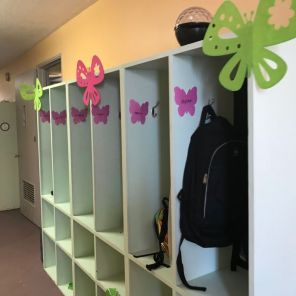 Another glimpse of decorated lockers for students. (Keisa Sharpe)