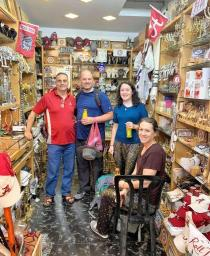 Hani Imam's Alabama: The Heart of Dixie store in Jerusalem attracts Tide fans and those curious about the shop's connection to the Crimson Tide. Many items marry local items with the his beloved football team and school. People stop in front of and inside the store to take pictures. (contributed)