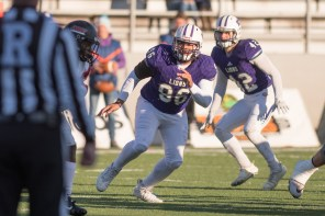 Brady Owensby is a standout on the UNA defensive line. (University of North Alabama Athletics)
