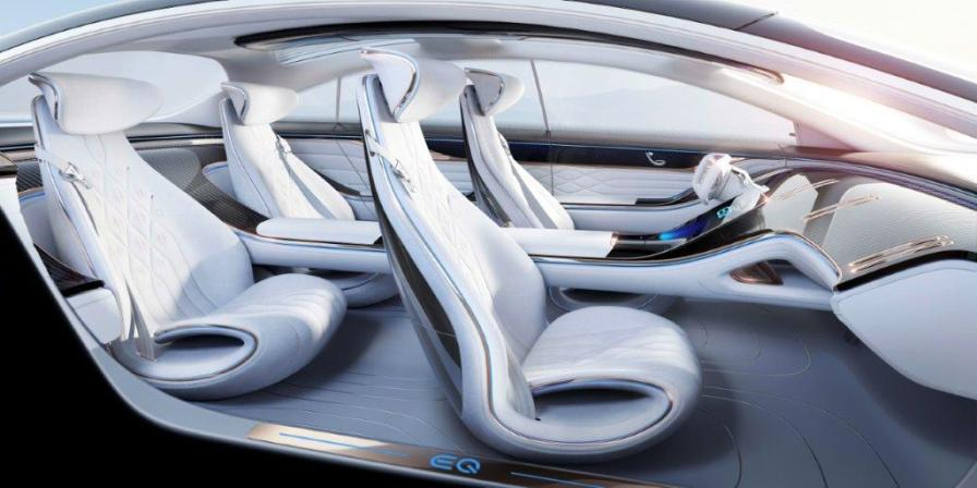 Mercedes-Benz has unveiled its Vision EQS, an electric concept sibling of its flagship S-Class sedan. (Mercedes-Benz)