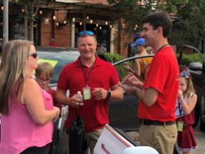 Owners of electric and hybrid vehicles met with those curious about electric vehicle ownership at the Alabama kickoff of National Drive Electric Week at the Market at Pepper Place in downtown Birmingham. (Phil Free / Alabama NewsCenter)
