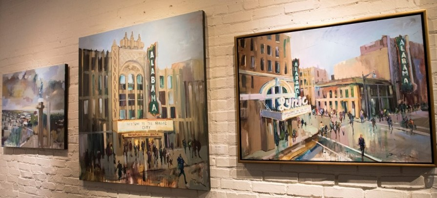 Alabama artists are being featured at Birmingham's Beverly McNeil Gallery as part of the state's bicentennial celebration. (Brittany Faush / Alabama NewsCenter)