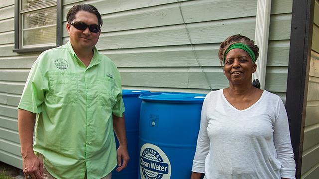 Rain barrels helping Alabama city combat flooding