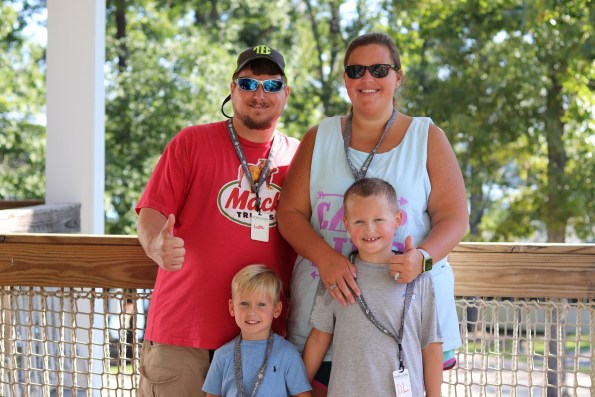 The Allen family -- clockwise from top left, Luke, Christie, Daniel Logan and Corbin Rich -- loved Smile-A-Mile's off-therapy camp. (contributed)