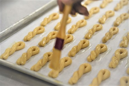 Nearly 20,000 koulourakia cookies are being made for this year's Birmingham Greek Festival. (Brittany Faush / Alabama NewsCenter)