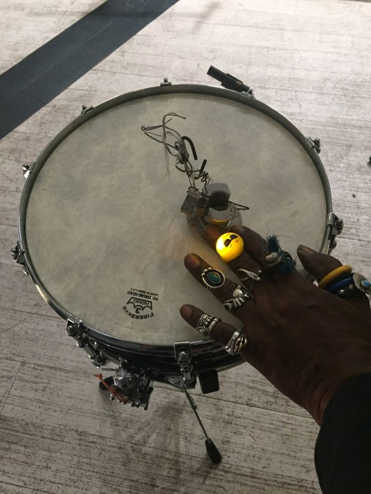 Lonnie Holley experiments constantly with objects he has found. (Anne Kristoff/Alabama NewsCenter)