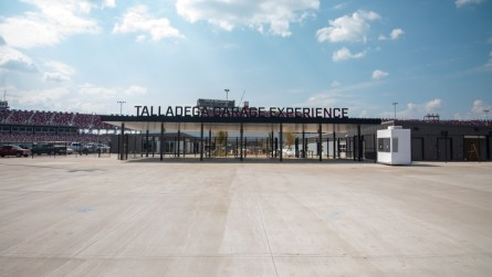 The entrance to the new Talladega Garage Experience inside the Talladega Superspeedway. (Dennis Washington / Alabama NewsCenter)