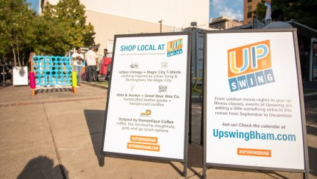 "Upswing Birmingham is a ""demonstration project"" designed by REV Birmingham. (Dennis Washington / Alabama NewsCenter)"