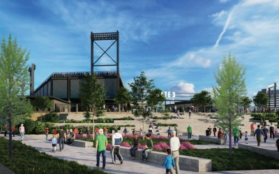 Final designs show Birmingham's Protective Stadium next to the BJCC. The stadium is set to open for the 2021 UAB Blazers football season. (Populous)