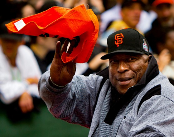 Baseball great Willie McCovey attends the 2012 World Series Champions Parade for his former team, the San Francisco Giants. (From Encyclopedia of Alabama, photo courtesy of Creative Commons; photo by Holly Hickman)