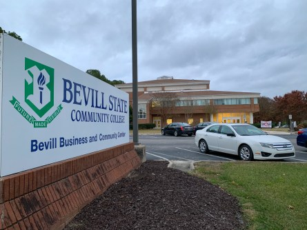 Bevill State Community College in Hamilton was host to Marion County's first-ever Worlds of Work from AlabamaWorks! (Dennis Washington / Alabama NewsCenter)