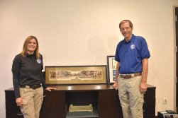 Janie Shelswell-White and Bob Copus have been with the Homewood Police Foundation for more than a decade. (Karim Shamsi-Basha/Alabama NewsCenter)