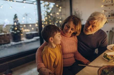 Just spending time with people you love over a good meal can be the best gift on holidays. (Getty Images)