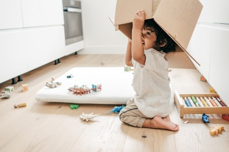 A busy Thanksgiving kitchen is no place for children and clutter on the floors. (Getty Images)