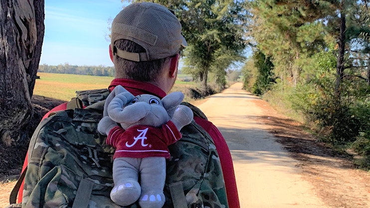 UA, AU student veterans march from Tuscaloosa to Auburn to bring awareness to veteran suicides